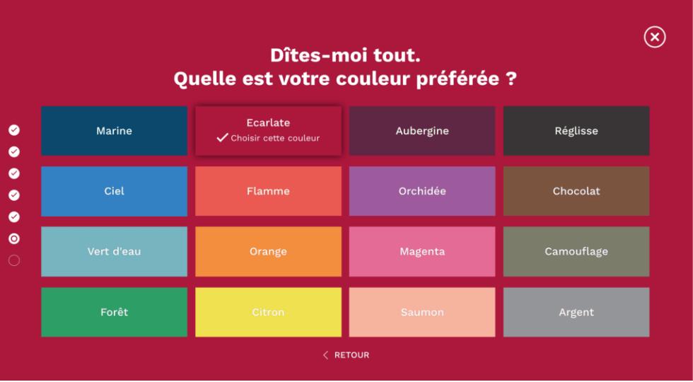 Comment créer son site de dropshipping Dropizi - choix des couleurs