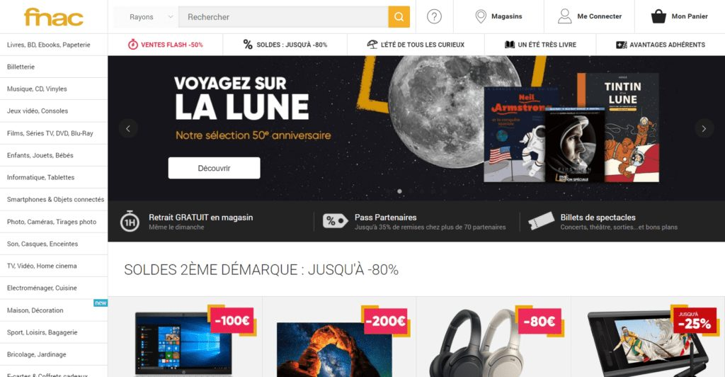 marketplace fnac page accueil