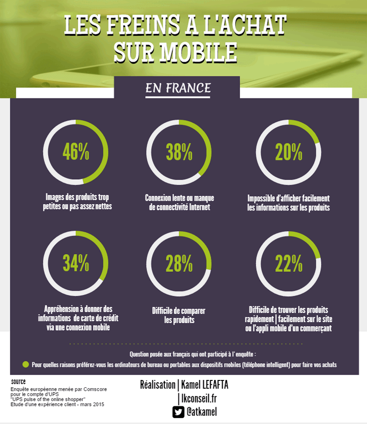 infographie freins achat mobile ecommerce