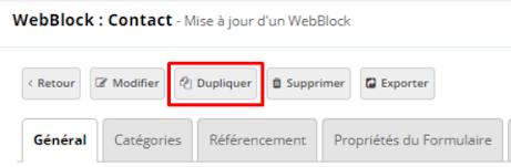 webblock contact oxatis ecommerce